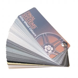 Final Systems Alloy Wheel Paint Colour Chip Swatch (27 x Colour Shades)