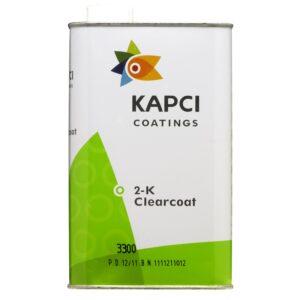 Kapci 3300 2K Clearcoat kit complete with hardener