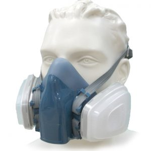 Re-usable Spray Painters Half Face Mask Setup c/w Replacement Filters