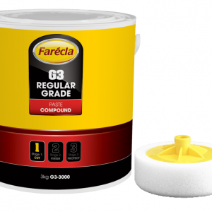 Farecla G3 Regular Grade Paste Compound 3kg for rubbing and high gloss finish G3-3000 with free g-mop foam head
