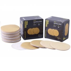 "Gold Hook & Loop Velcro Sanding Discs 3""/75mm"