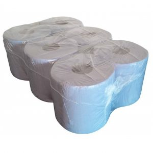 Blue Paper Rolls Cleaning perforated towel