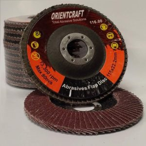 Final Systems Abrasive Flap Discs Aluminium Oxide 115mm x 22.2mm