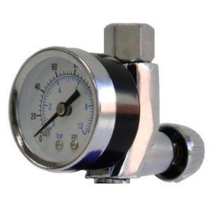 Pressure Gauge for inline paint spray gun setups