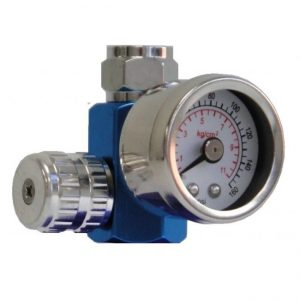 Mini Pressure Gauge for inline paint spray gun setups