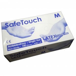 Disposable Latex Gloves 100qty powder free
