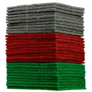Finishing Pads in Green Medium, Red Fine & Grey Super Fine