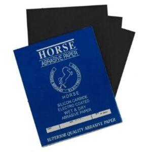 Horse Wet & Dry Sanding Paper Sheets/Abrasive Paper 50 sheets P180 P240 P320 P400 P500 P600 P800 P1000 P1200 P1500 P2000