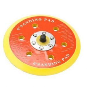 "Hook & Loop Velcro Backing Pad 7 hole 6"" 1/4 thread"